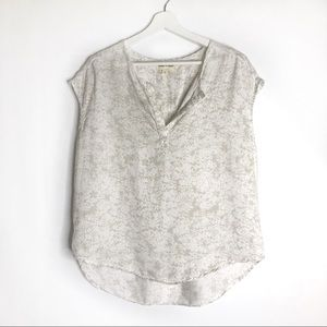 Anthropologie Cloth & Stone Sandstone Popover Top